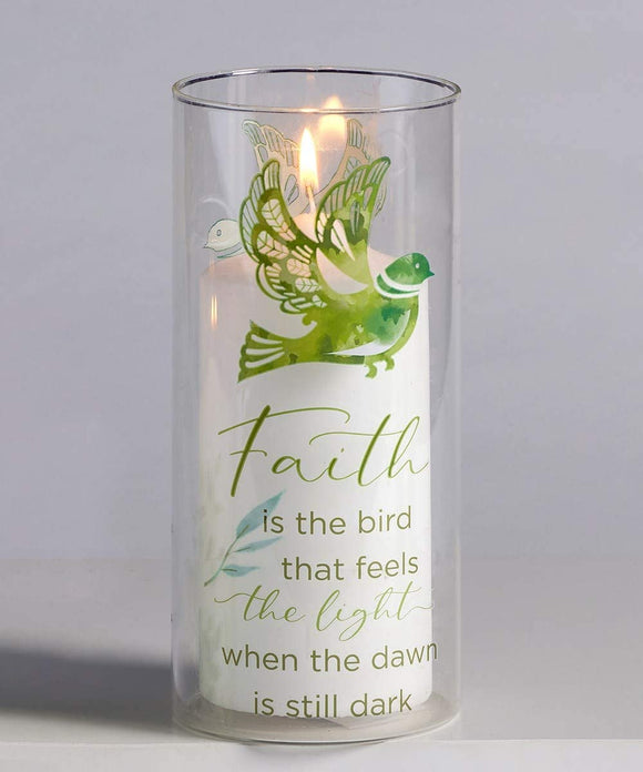 Faith Candle Pillar