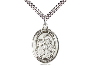 St. Joseph Sterling Silver Medal and Chain