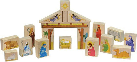 Nativity Set - Wooden Block