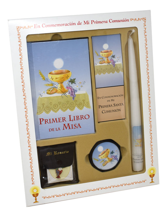 Primer Libro De La Misa (My First Eucharist) Deluxe Set for Boys
