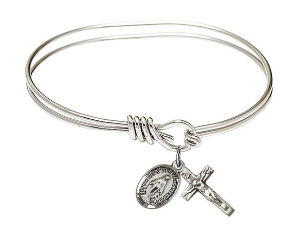 Oval Eyehook Bangle Miraculous/Crucifix