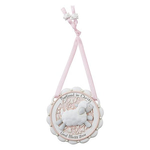 Crib Medals - Baptized In Christ Crib Medal Pink or Blue Medal