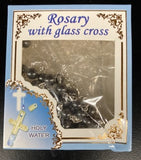 Hematite Holy Water Cross Rosary