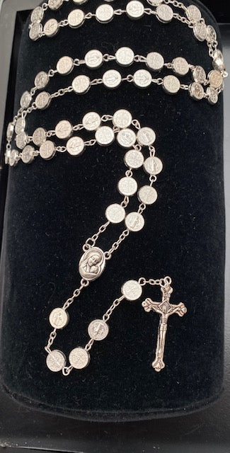 St. Benedict Silver Rosary