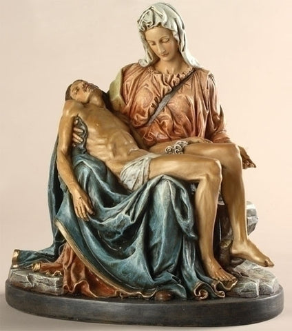 Pieta Statue in Color 10""