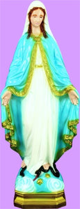 24 inch Our Lady Of Grace Indoor/Outdoor Statue  - White Finish