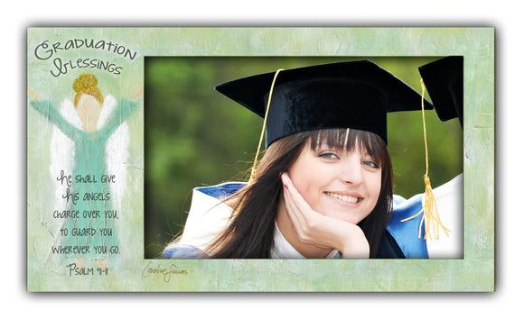 Give His Angels Horizontal Graduation Frame