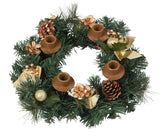Gold Ribbon Advent Wreath