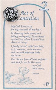 Act of Contrition Prayer Card & Pin