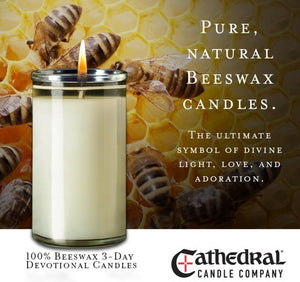 100% Beeswax 3-Day Devotional Candles