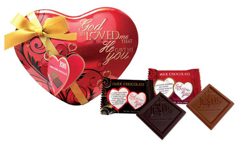 St. Valentine's Day Heart Shaped Chocolate Tin