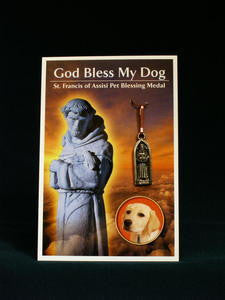 Dog Blessing medal