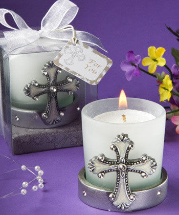 Cross Candle Favor