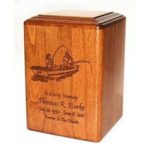 Fishing Engraved Urn