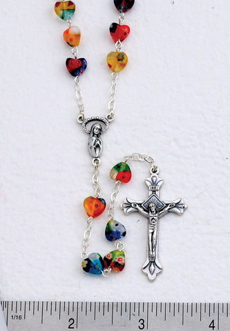Heart Shaped Rosary Beads