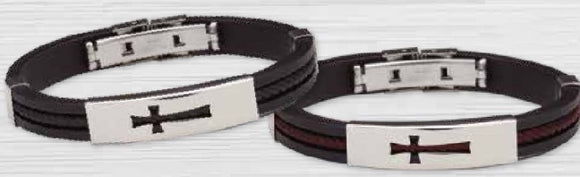 Stainless Steel and Silicone Bracelets for Boys