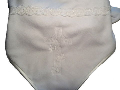 Irish Cross Christening Blanket