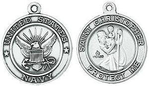 Navy / St. Christopher Medal