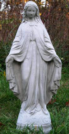 "Our Lady of Grace Cement 26"" Statue"