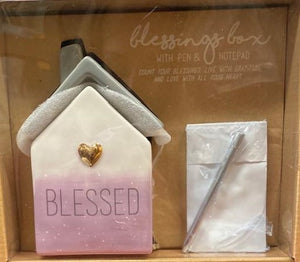 Blessing Box with Notepad & Pen