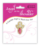 Birthstone Guardian Angel Pins
