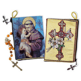 Saint Anthony with Child Rosary Pouch