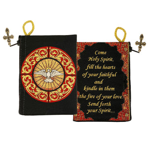 """Holy Spirit"" Bernini Inspired Confirmation Keepsake Tapestry Pouch Red/Black"