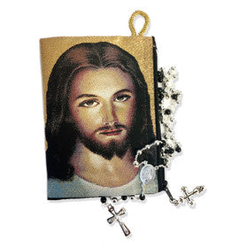 Jesus Christ Image Rosary Pouch