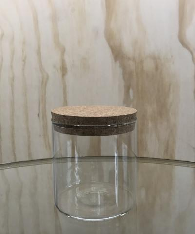Glass Canister With Cork Lid
