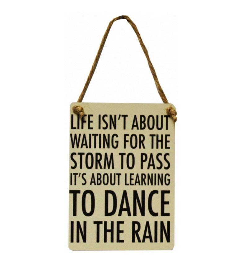 Mini Metal Sign - Dance in the Rain