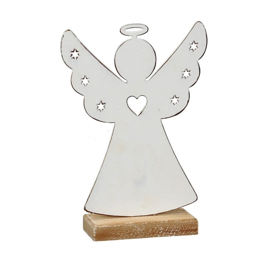 White Metal Angel Ornament