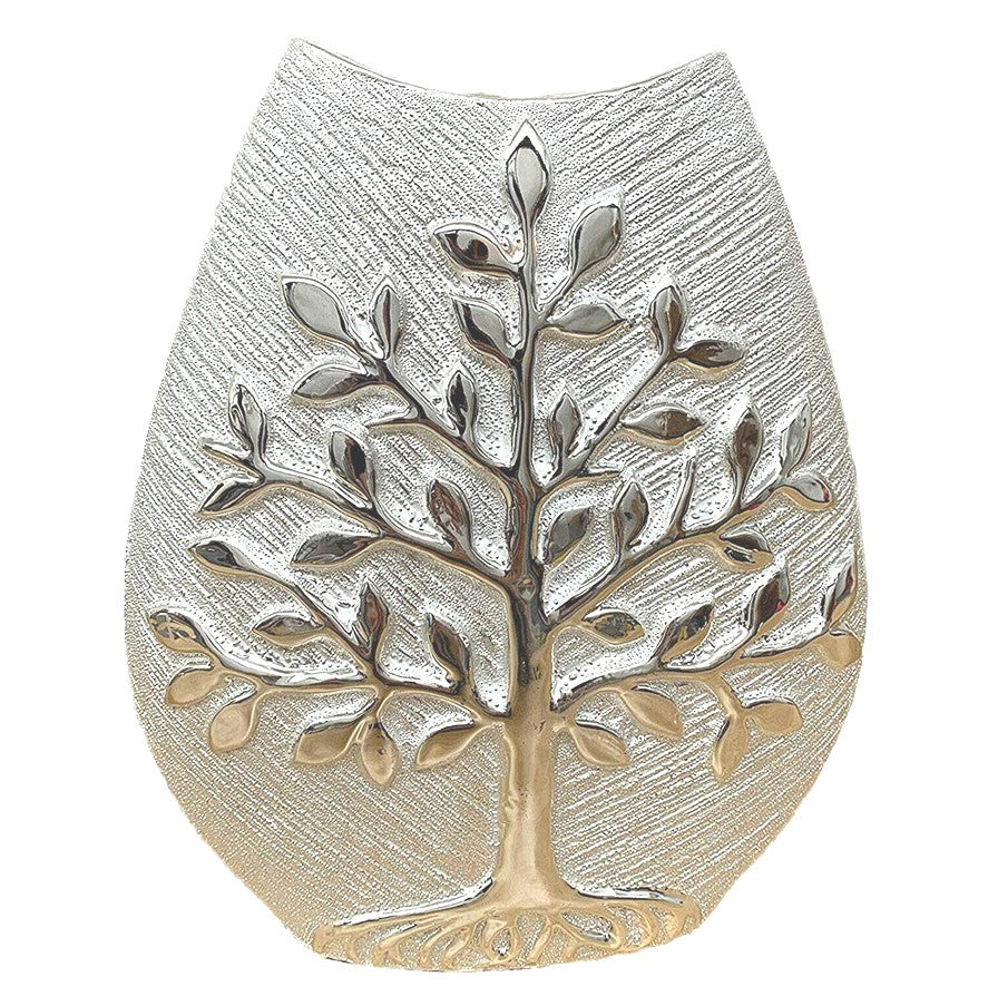 Tree of Life Silver Vase