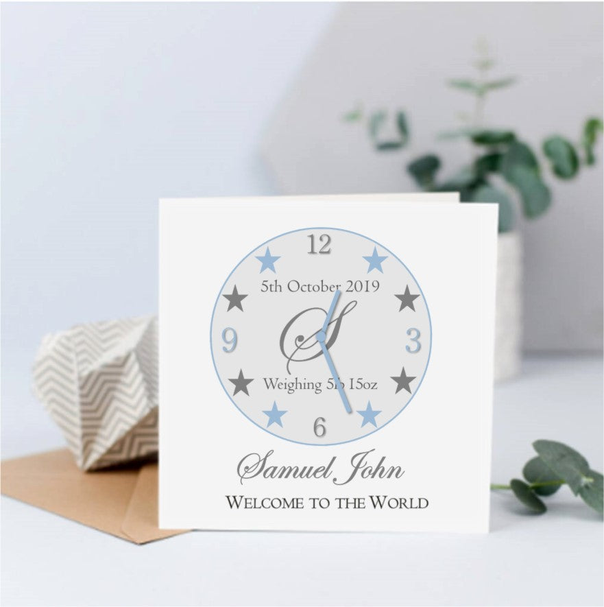 Personalised New Baby Card - Time Stood Still