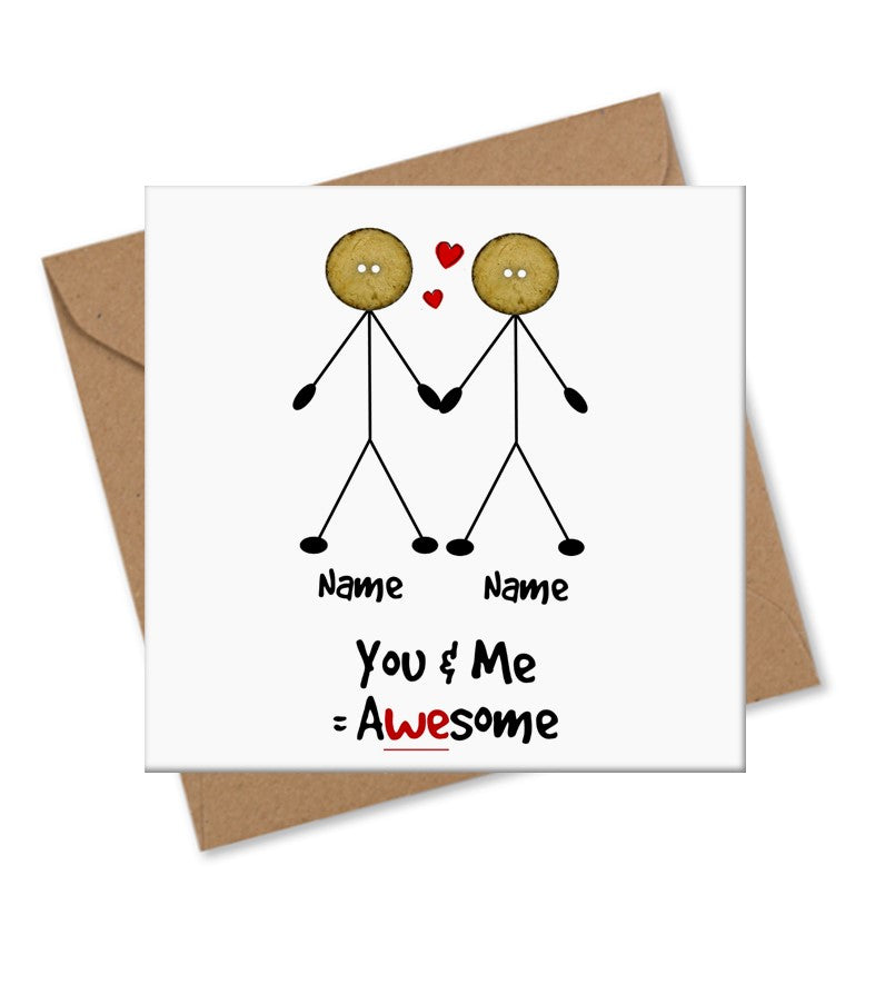 male gay relationship love valentine partner card