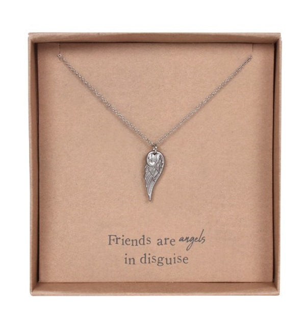 Friends are Angels in disguise - Angel Wing Necklace