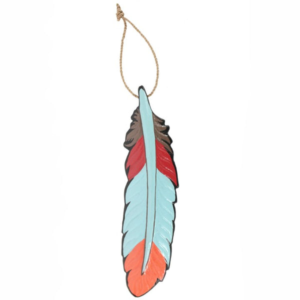 Boho Decor Hanging Wood Feather