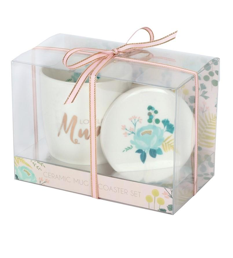 Mothers Day Ceramic Mug and Coaster Gift Set