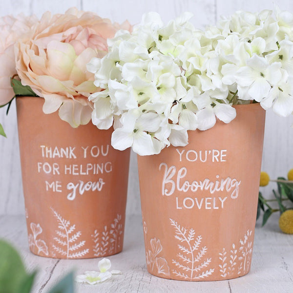 Engraved Terracotta Plant Pot