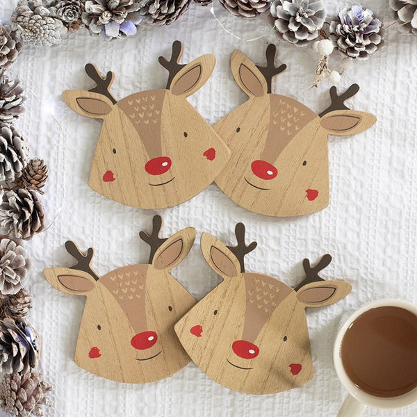 Reindeer Coasters - Set of 4