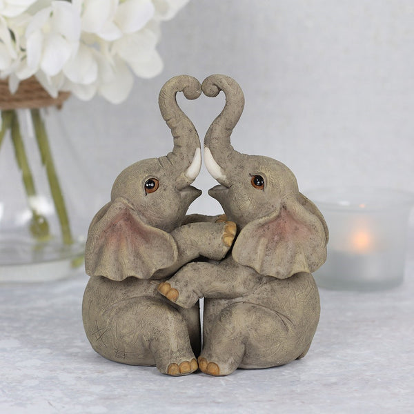 Elephant Embrace Love Ornament