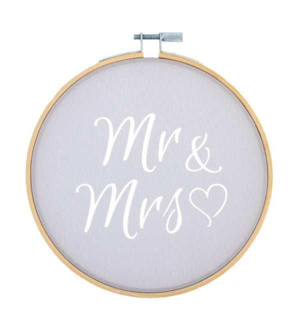 Mr & Mrs Decorative Hoop