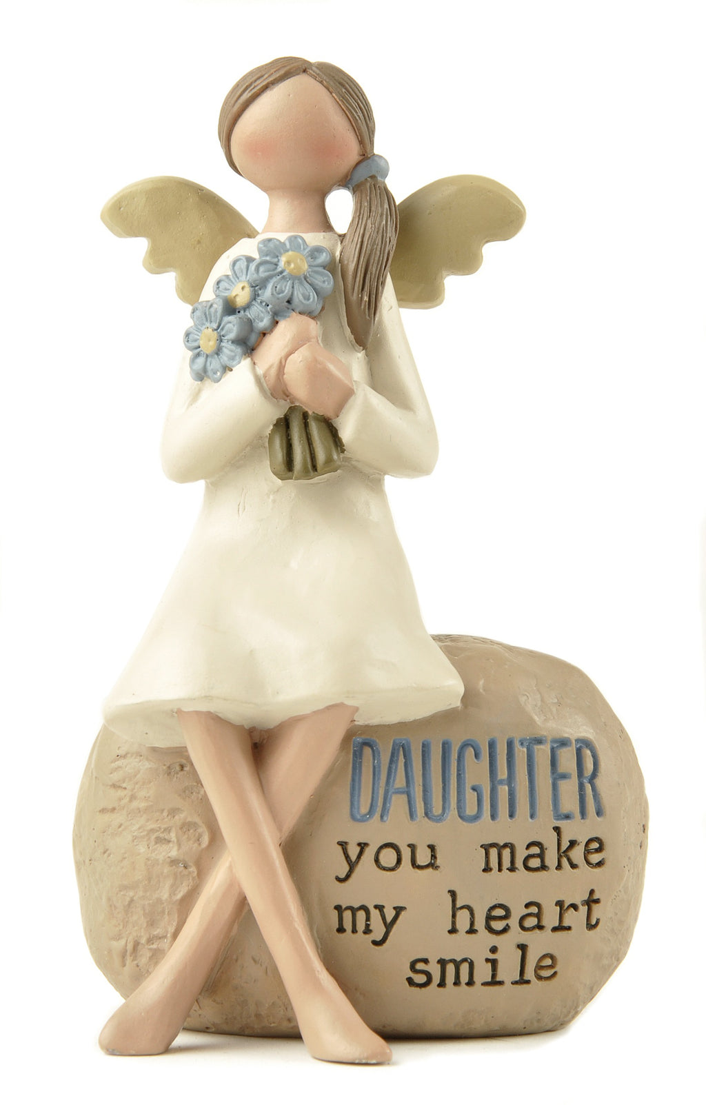 Daughter you make my heart smile - Angel Figurine