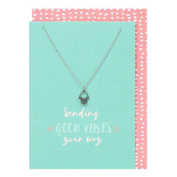 Sending Good Vibes Card and Necklace