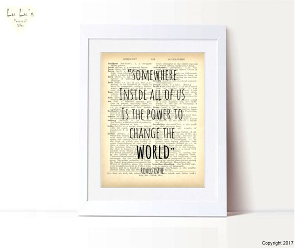 Roald Dahl – Change the World Personalised Framed Print