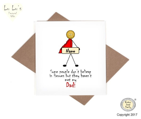 Button Head Family - Hero Dad Card