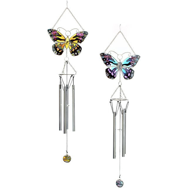 Glass Butterfly Windchime