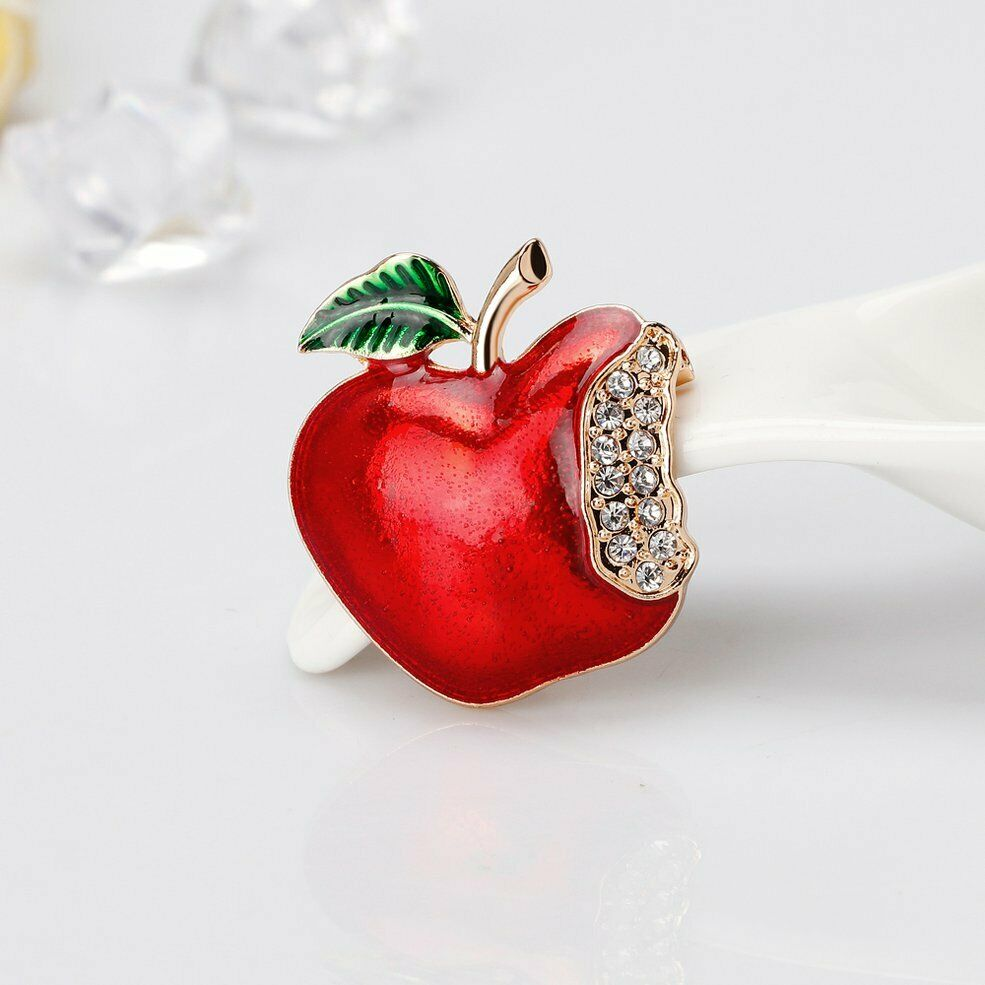 Apple Dimante Brooch