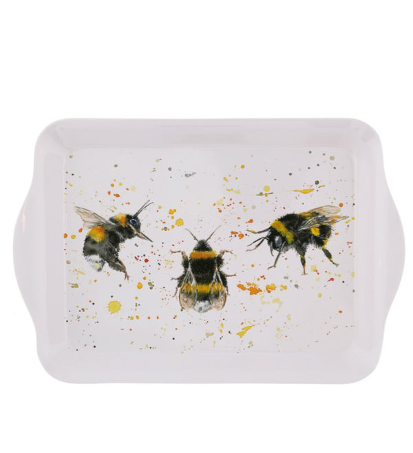 Bee Happy Small Watercolour Bee Tray- Illustrated by Bree Merryn