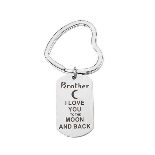 Brother - Love You to the Moon Keyring
