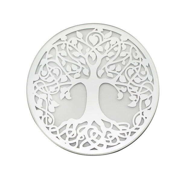 Tree of Life Mirror Candle Plate